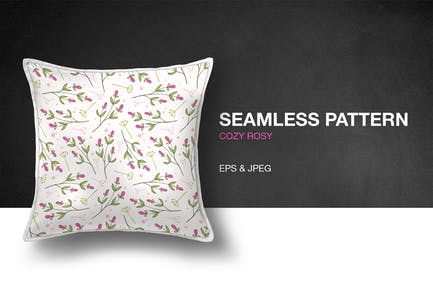 Cozy Rosy Seamless Pattern