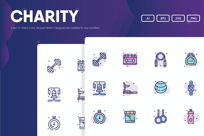 Wohltätigkeits-Symbolpaket