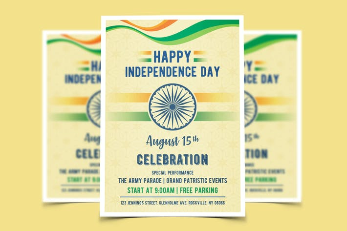 Thumbnail for India Independence Day Flyer Template