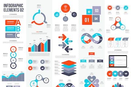 Vektorelemente von Infografiken