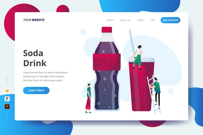 Thumbnail for Soda Drink - Landing Page