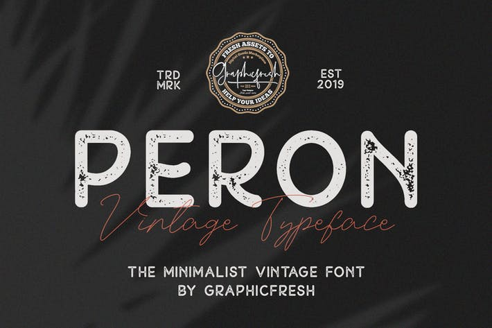 Thumbnail for Peron - Modern Vintage | 4 Fonts