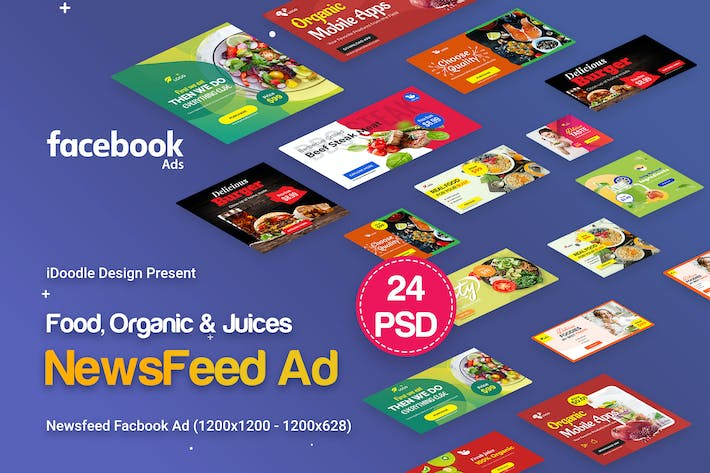 Thumbnail for NewsFeed Food, Organic & Juices Facebook Ad