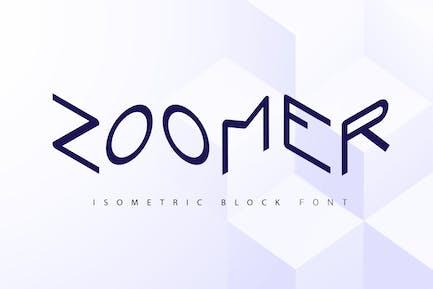 Zoomer  isometric font