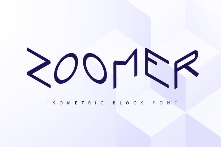 Thumbnail for Zoomer| isometric font