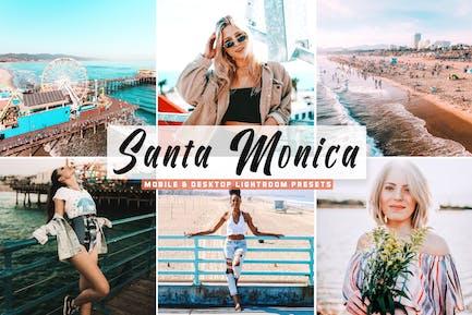 Santa Monica Mobile & Desktop Lightroom Presets