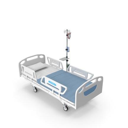 Medizinisches Bett mit IV-Ständer