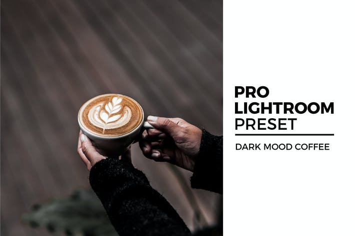 Thumbnail for Dark Mood Coffee Lightroom Preset