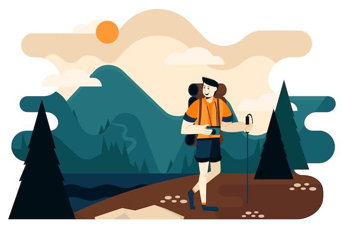 Thumbnail for Wandern In wilder Natur