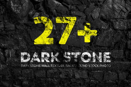 Dark Stone Wall Texture Backgrounds Stock Photo