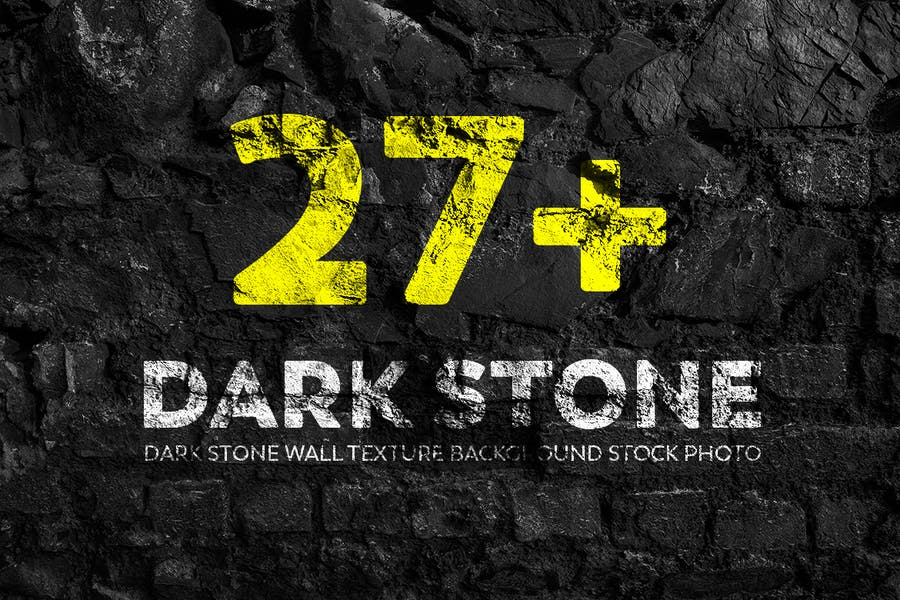 Dark Stone Wall Texture Backgrounds Stock Photo