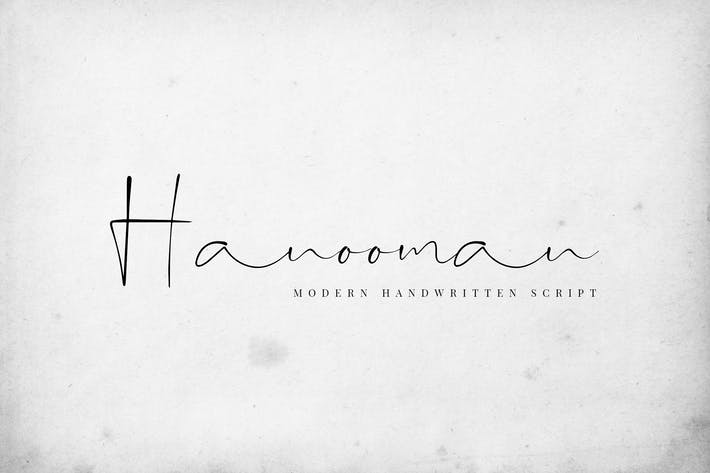Thumbnail for Hanooman - Modern Handwritten Font