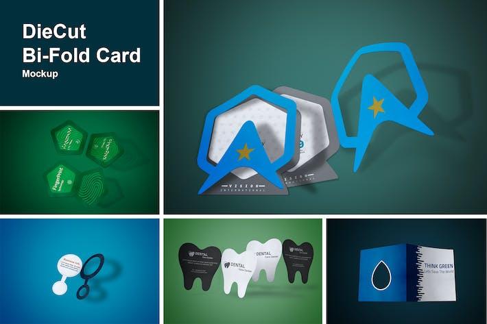 DieCut Bi-Fold Card Mockup