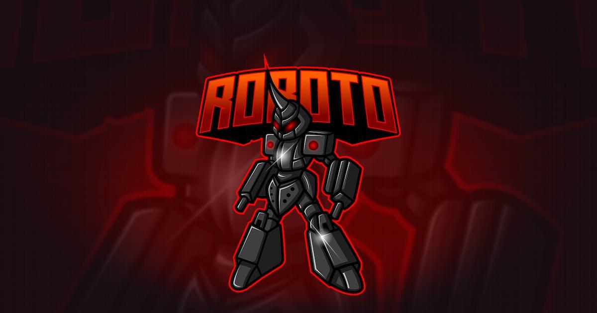 Download Roboto - Mascot & Esport Logo by aqrstudio