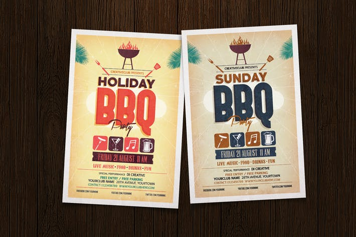Thumbnail for Holiday BBQ Party Flyer