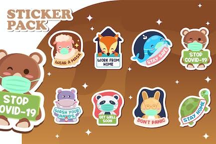 Covid Stickers