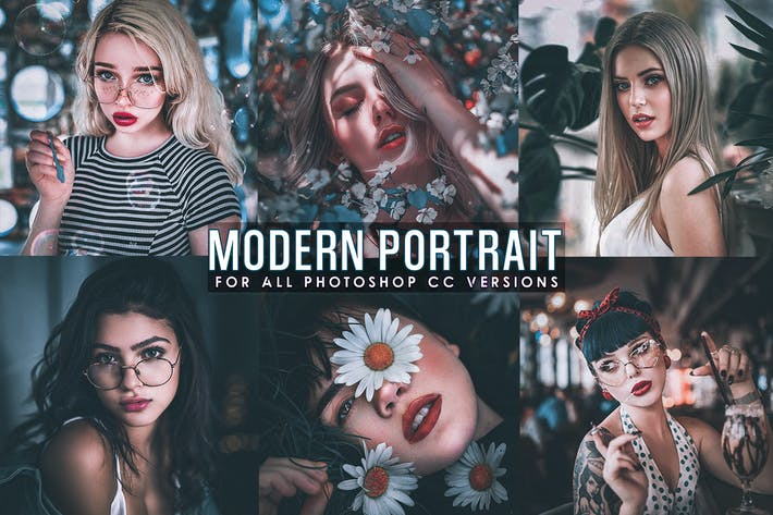 Thumbnail for Modern Portrait Photoshop Actions