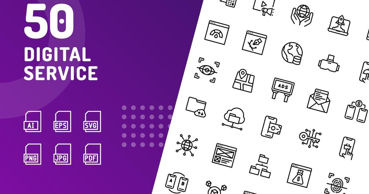 Digital Service Line Icons by kerismaker