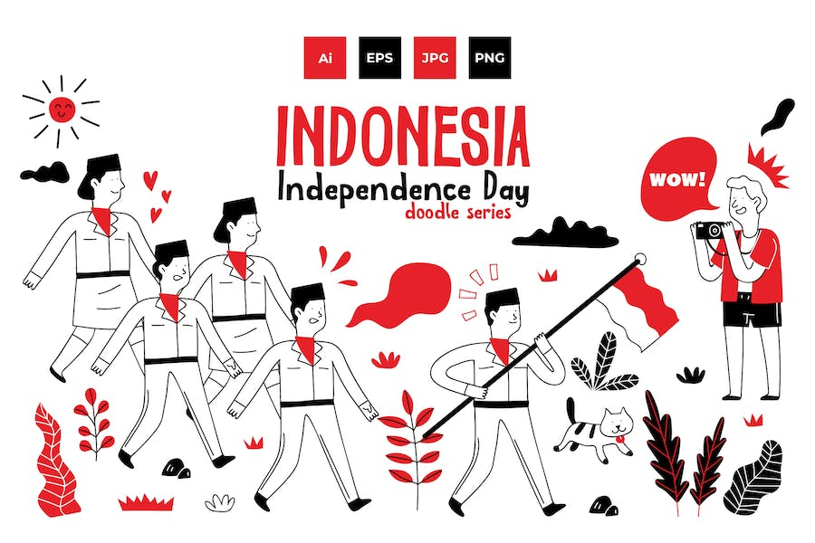 Indonesia Independence Day doodle series 2