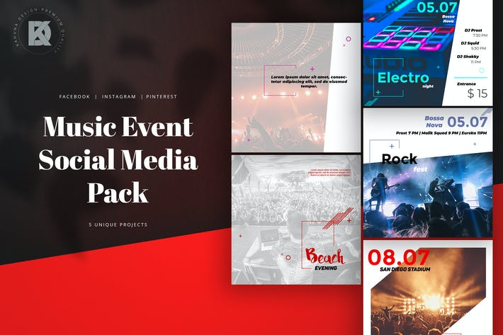 Thumbnail for Music Event Social Media Pack