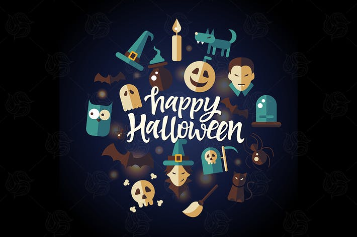 Thumbnail for Happy Halloween - celebration poster