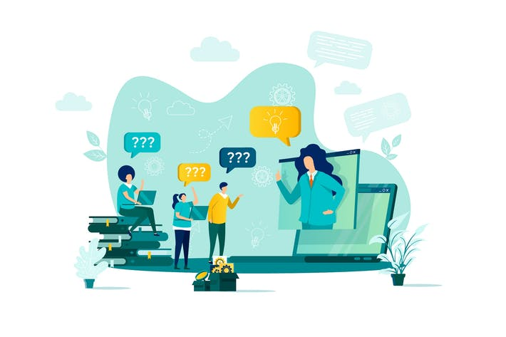 Thumbnail for Consulting Flat Concept Vector Illustration