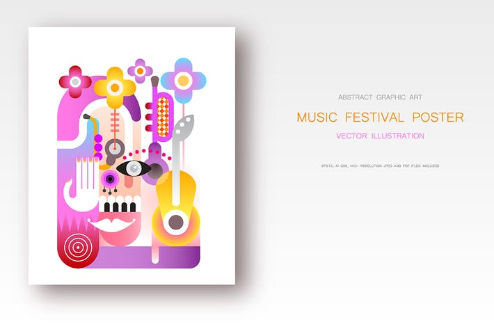 Cover Image For Music Festival Poster vector design