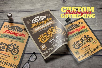 Motorcycle Gathering Flyer