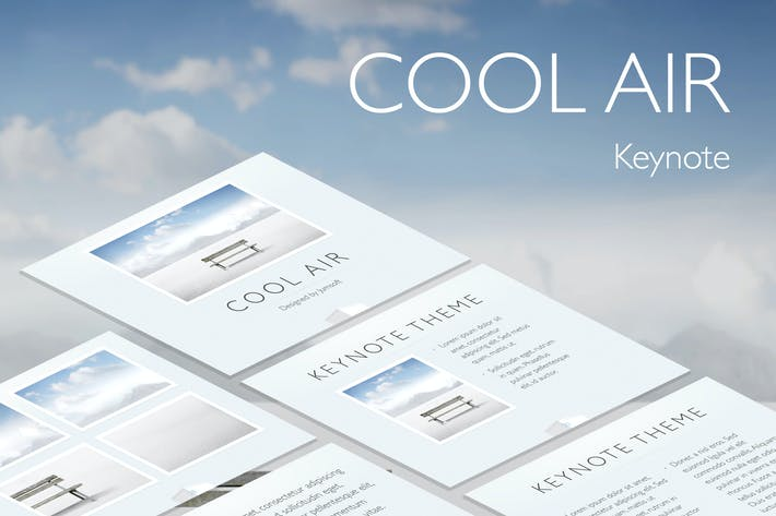 Thumbnail for Cool Air Keynote Template