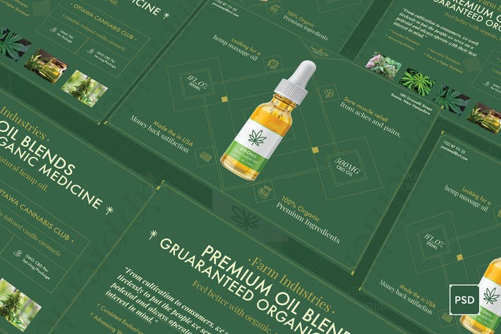 Thumbnail for Cannabis Hemp Oil A5 Flyer