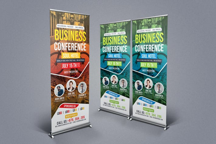 Cover Image For Business Conference Rollup Banner