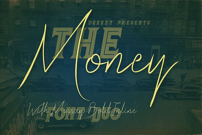 Thumbnail for The Money Font Duo