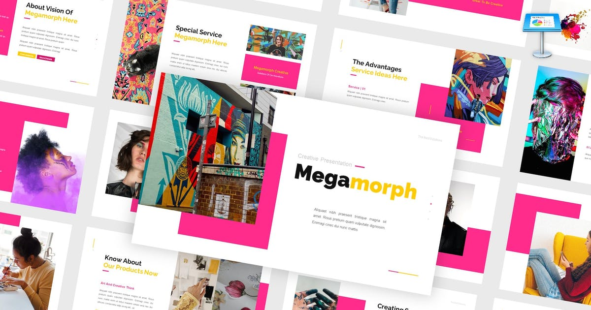 Download Megamorph - Creative Keynote Template by CocoTemplates