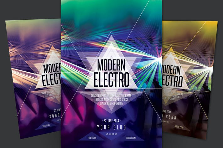 Cover Image For Modern Electro Flyer