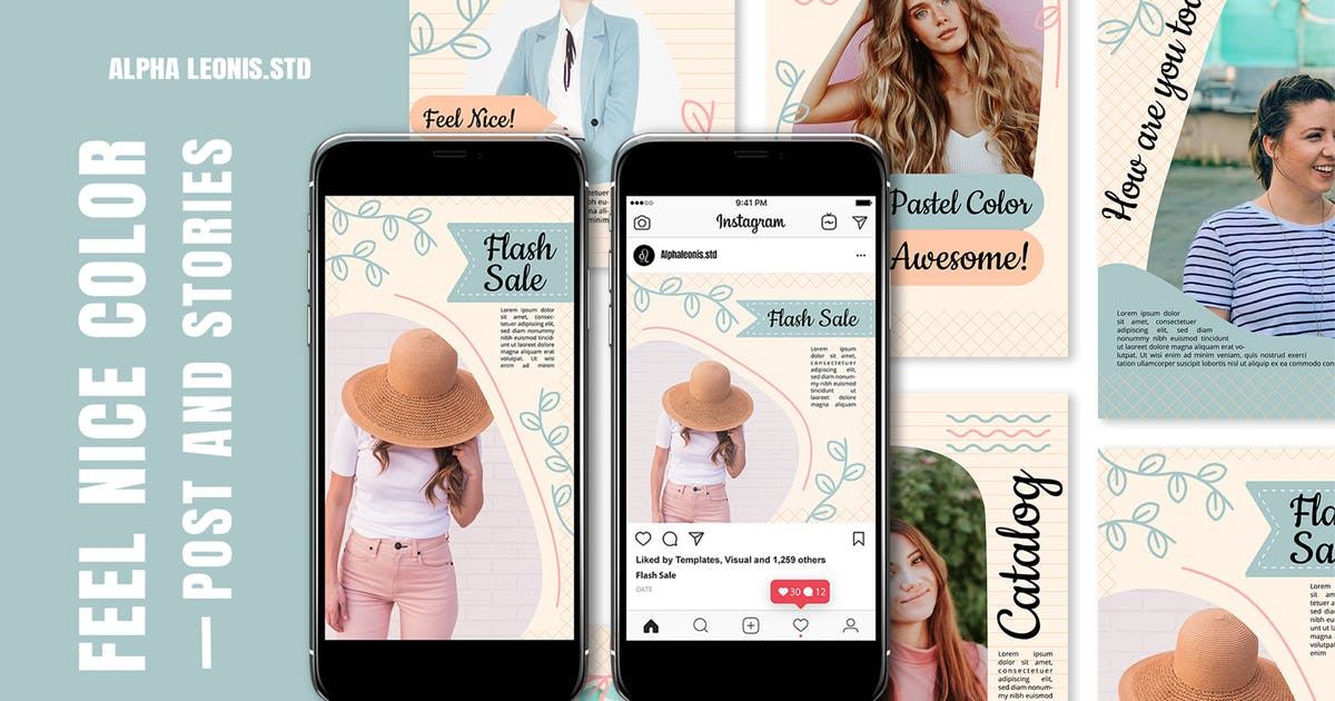 Download Instagram Templates - Feel Nice Color by alphaleonis_std