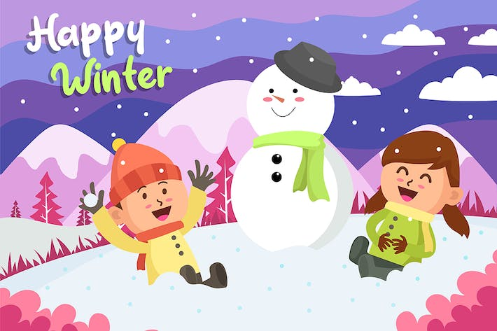Thumbnail for Happy Winter - Vector Illustration