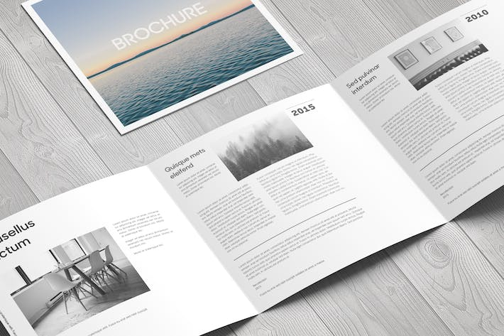 Thumbnail for Square Trifold Brochure Mock-Up