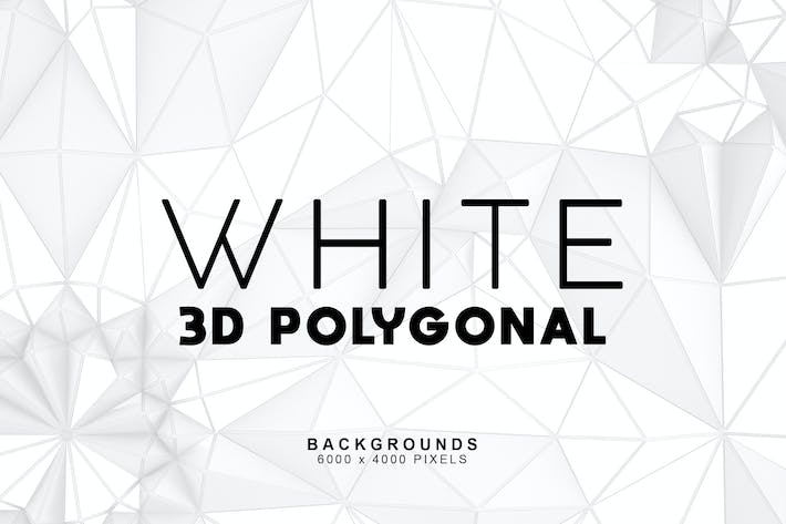 Thumbnail for White 3D Polygonal Backgrounds