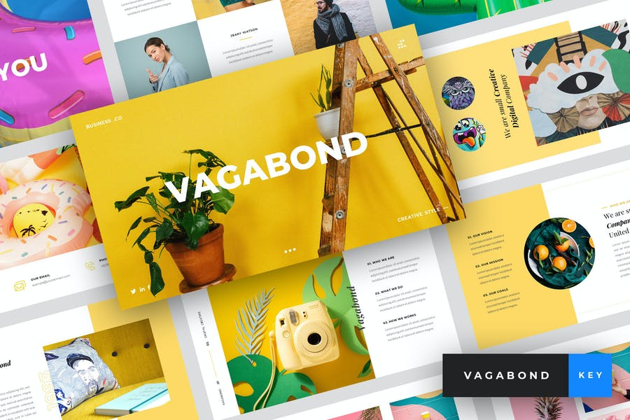 Vagabond - Creative & Business Keynote Template - product preview 0