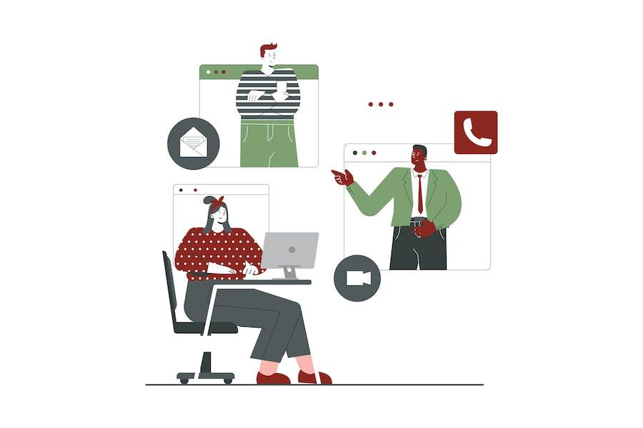Green Teamwork Landing Page
