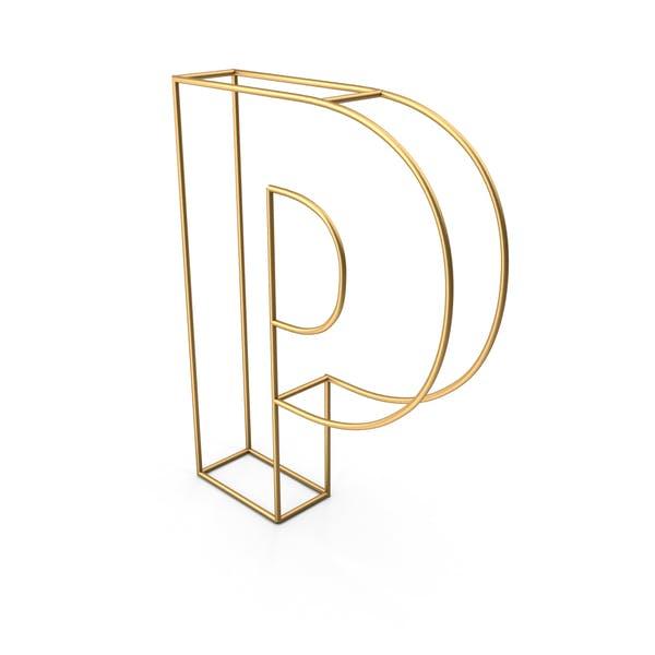 Декоративная проволочная буква P
