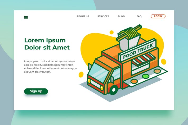 Thumbnail for Food Trucks - Banner Landing Page