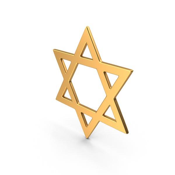 Thumbnail for Judaism Star of David Symbol Gold