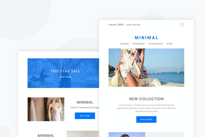 Thumbnail for Minimal eCommerce - Email Newsletter