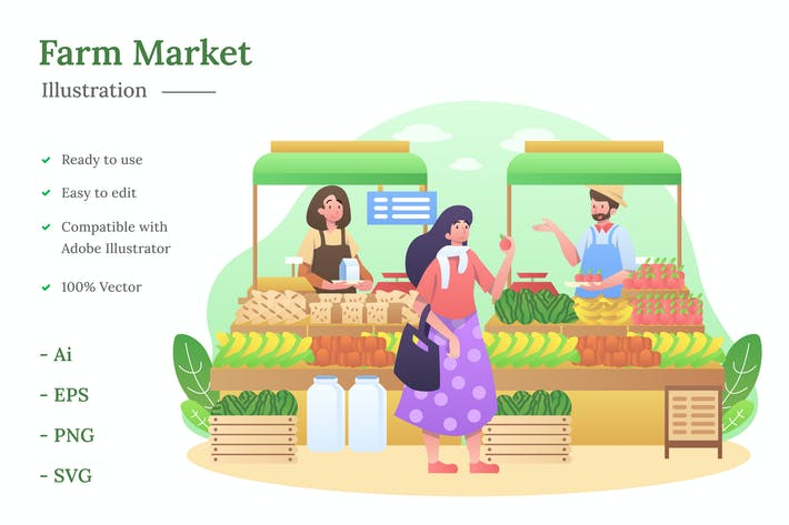 Thumbnail for Farm Market Illustration