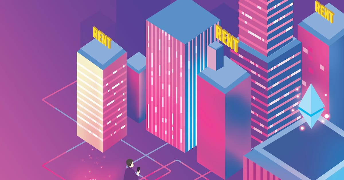 Download Apartment Rent Blockchain Illustration - Nh by angelbi88