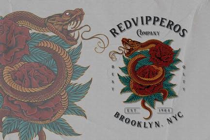 Snake - Reptile Emblem