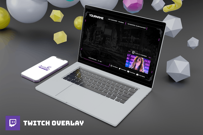 Thumbnail for Digipurple - Twitch Overlay Template
