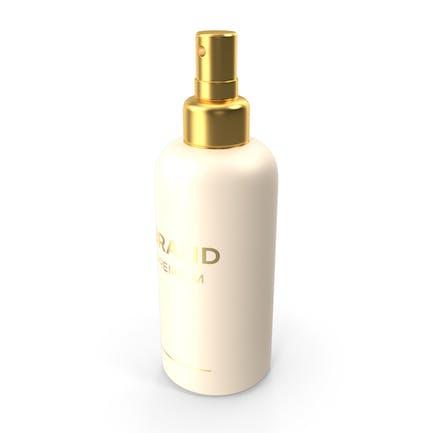 Botella de spray cosmética dorada