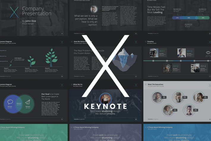 Thumbnail for The X Note - Keynote Template
